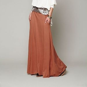 Free people fp beach mad cool maxi skirt